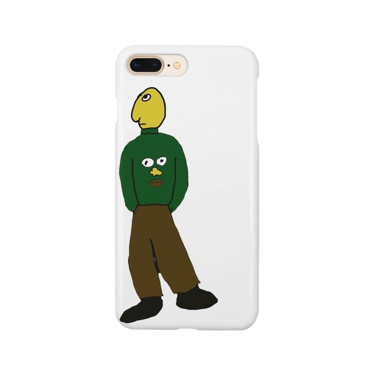 わやたにの顔プリントセーター着てる人 Smartphone cases