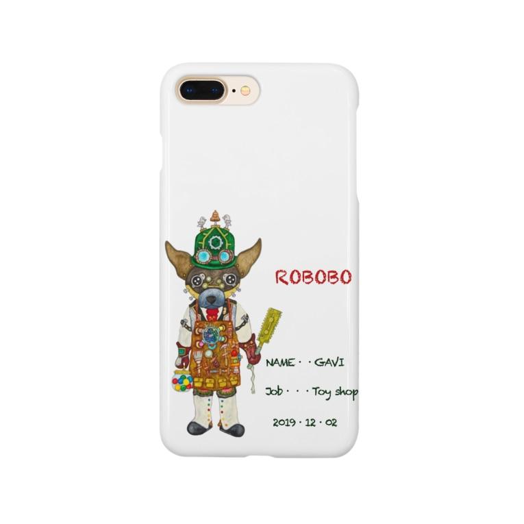 ねこぜや のガッちゃんロボ Smartphone cases