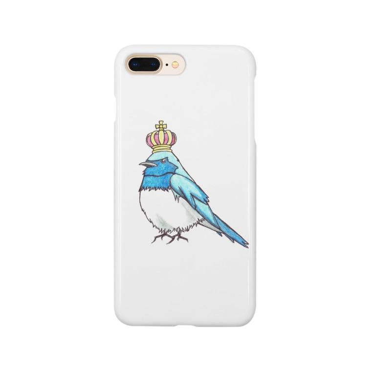 ruca's shopの王冠オオルリ Smartphone Case