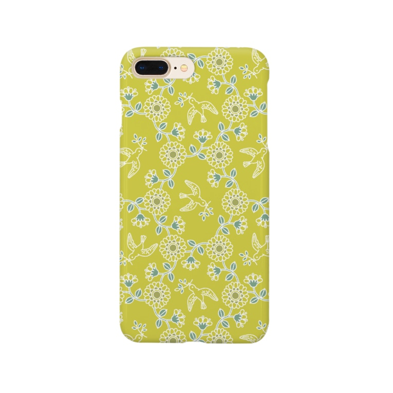 d*ropsのbird and flower Smartphone cases