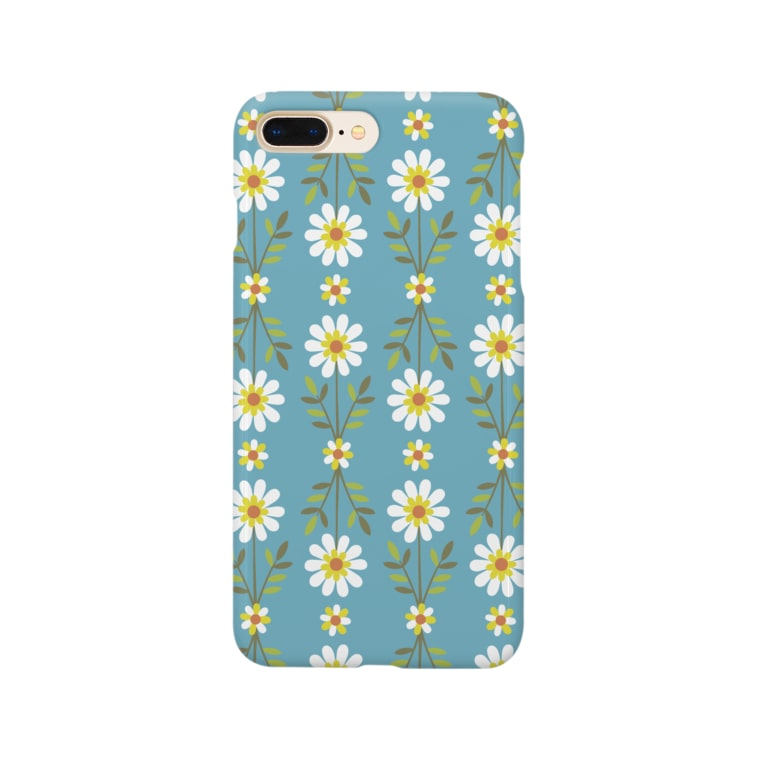 d*ropsのdaisy blue Smartphone cases