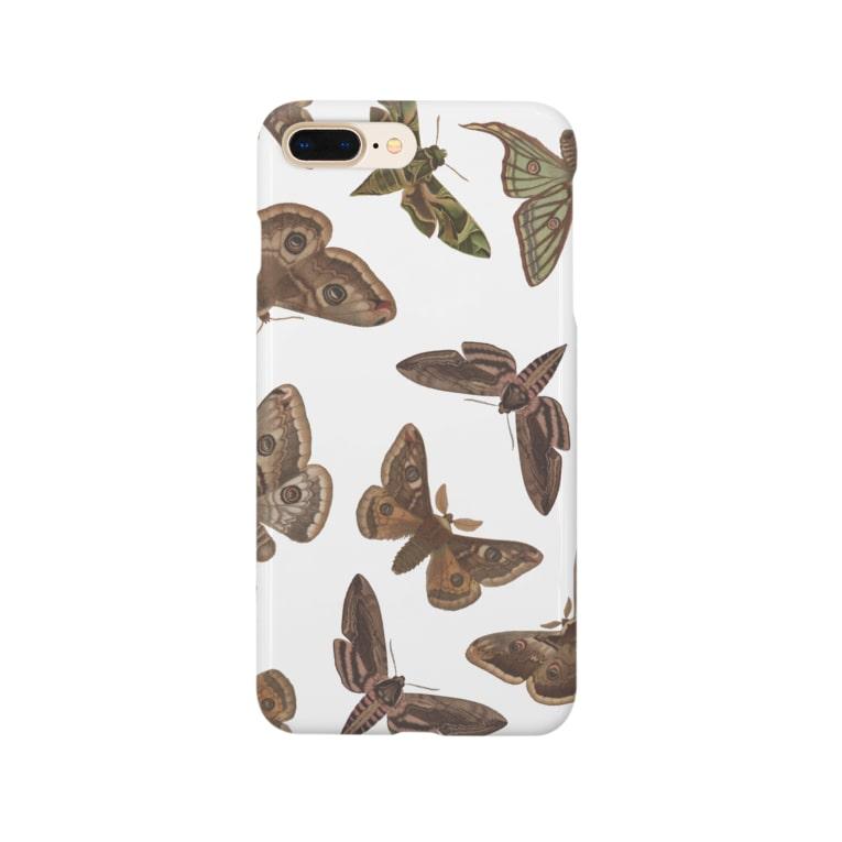 Create555ショップの欧州の蛾 Smartphone cases
