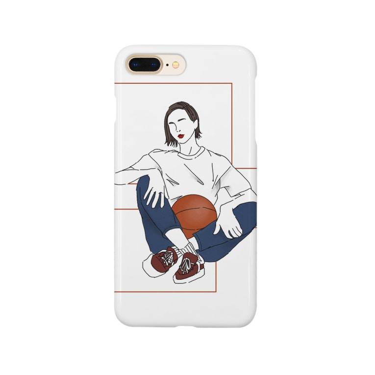 Ma Chérieのバスケ女子 Smartphone cases
