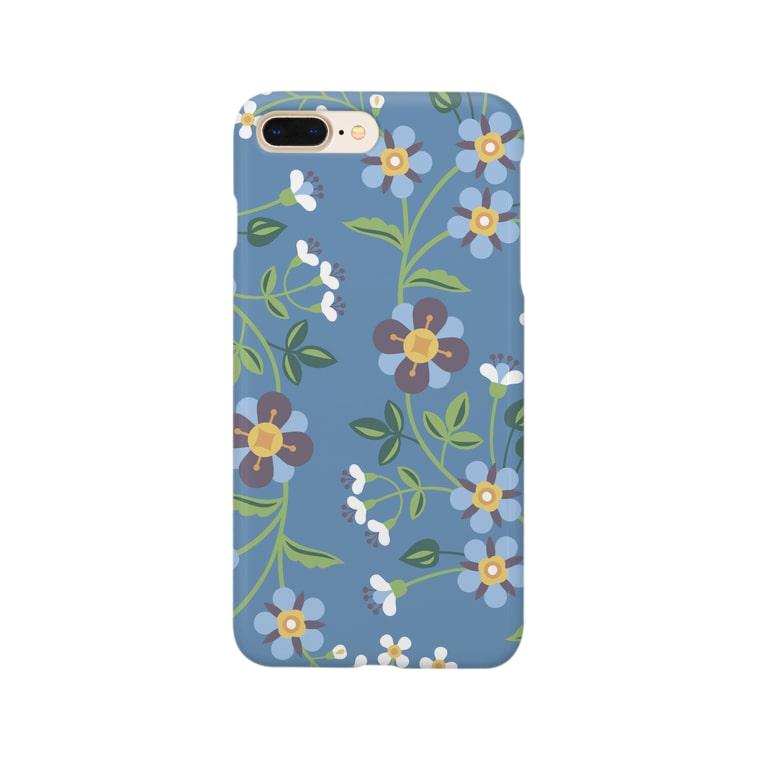 d*ropsの青い花 Smartphone cases