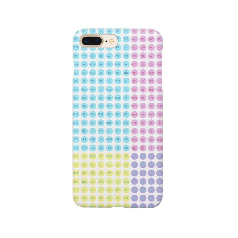 YAYOI.channel のハングルスマホケース ドット ~白地パステル~ Smartphone cases