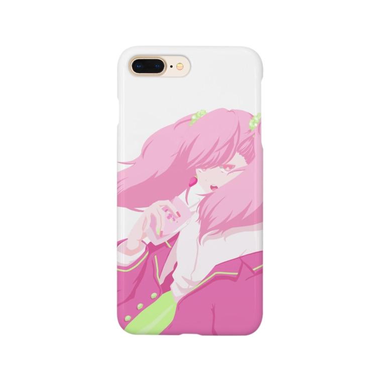 kinoko_9のいちごみるく Smartphone Case