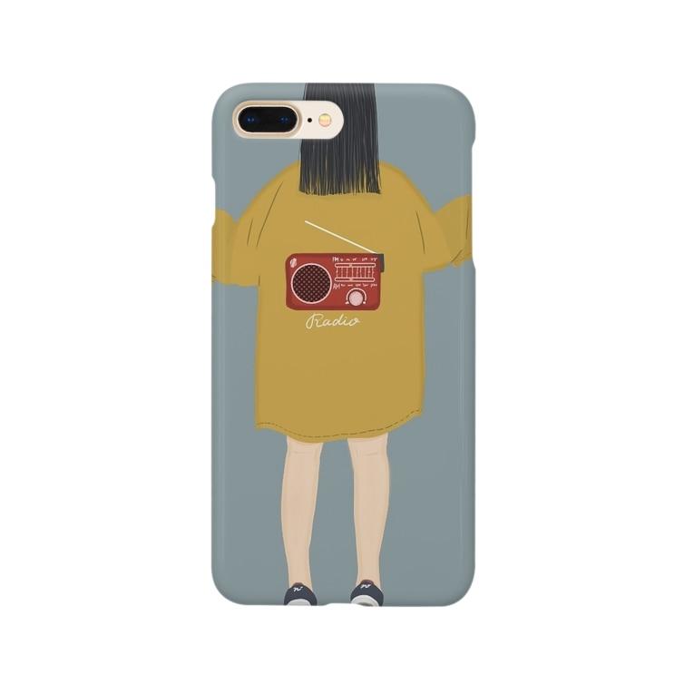 n'のラジオTシャツの女の子 Smartphone cases