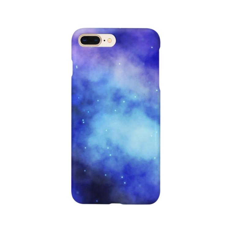 月音@万年寝不足の宇宙柄のスマホケース Smartphone cases