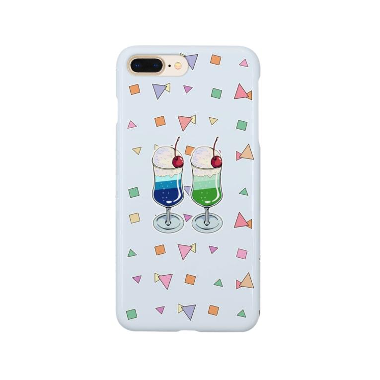 lamune&lamuneのツインソーダ(水色) Smartphone cases
