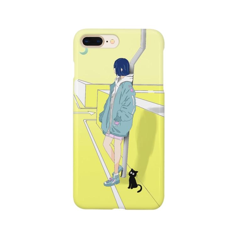 """haiengyの""""誰を待ってるの?"""" Smartphone cases"""