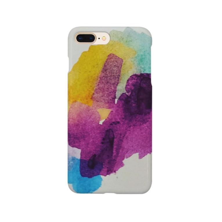 michiのパンジー💠 Smartphone cases