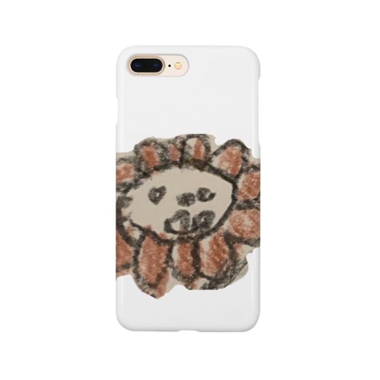 こじろうさんのライオンくん Smartphone cases
