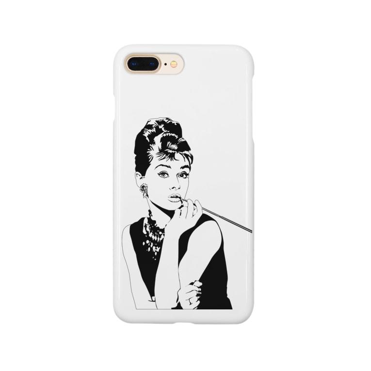 Juli Meerのオードリーヘップバーン Smartphone cases