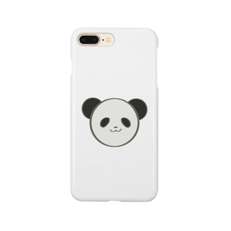 チョモランマの元気なパンダ Smartphone cases