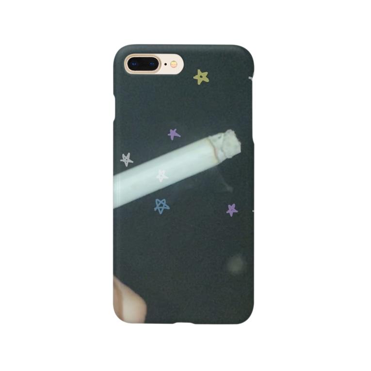 牡蠣が好きの煙草のキラキラ Smartphone cases