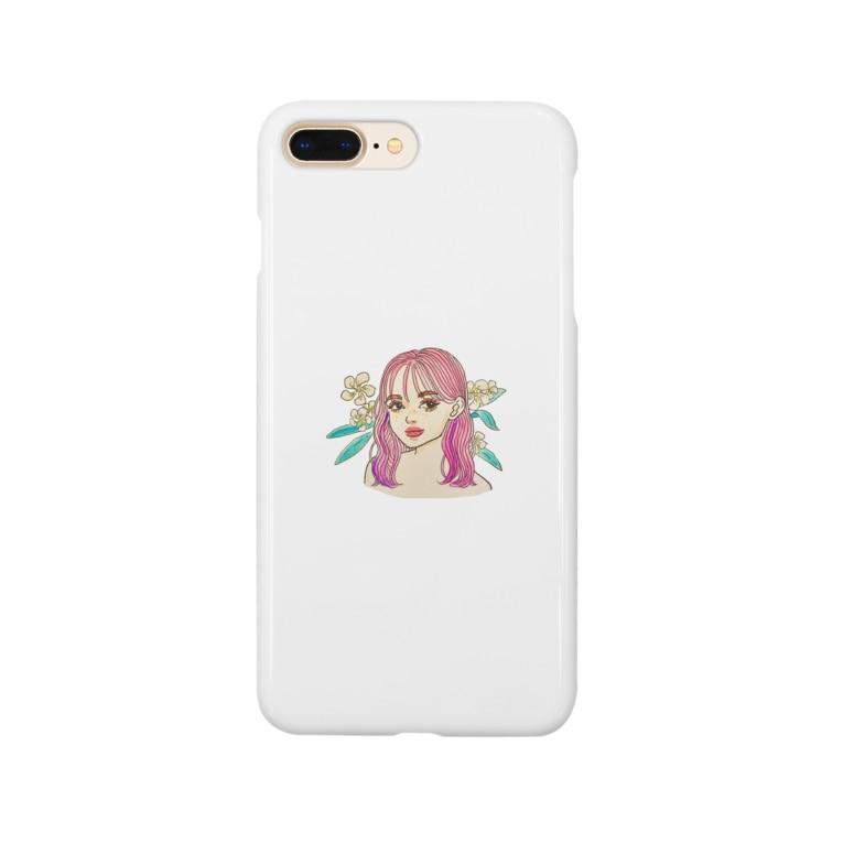 ノザキ アヤミのピンク Smartphone cases