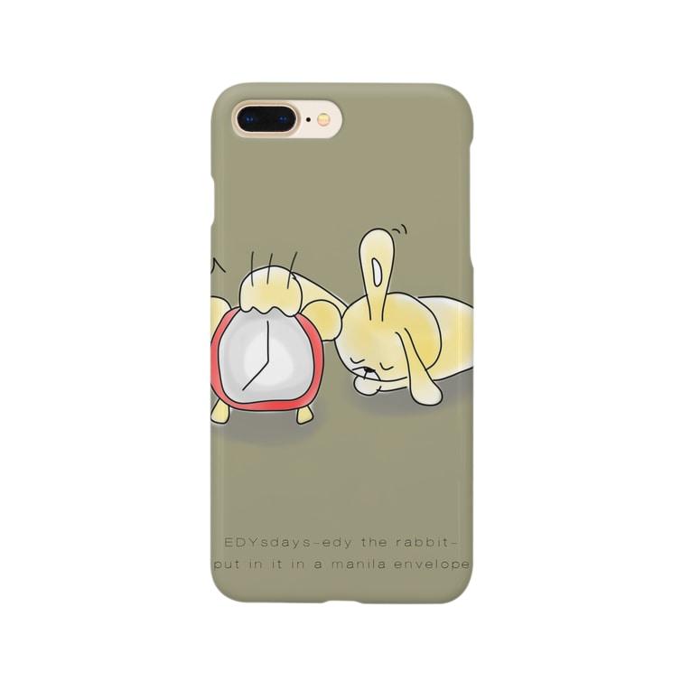 edysdays〜ウサギのエディ〜のウサギのエディ 目覚ましエディ Smartphone cases
