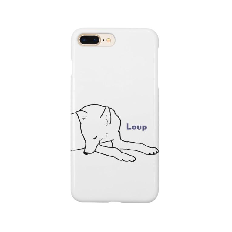 万屋ごしょとのねそべるおおかみ Smartphone cases