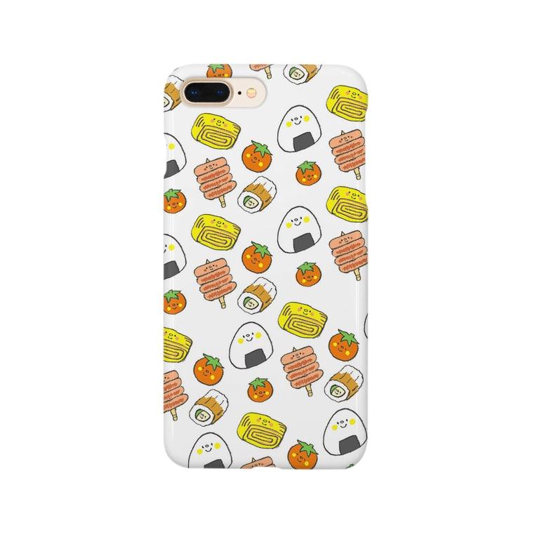 ゴキゲンサンショップのおべんとうさんたち Smartphone cases