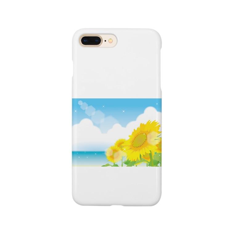 色々雑貨屋さんの海辺の向日葵 Smartphone cases