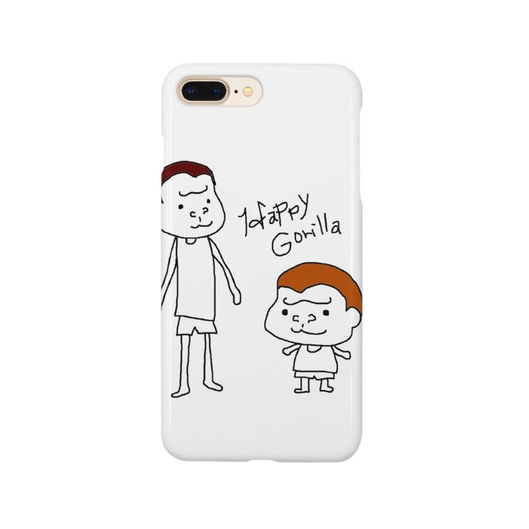 HappyGorillaのハッピーゴリラ 凸凹コンビ Smartphone cases