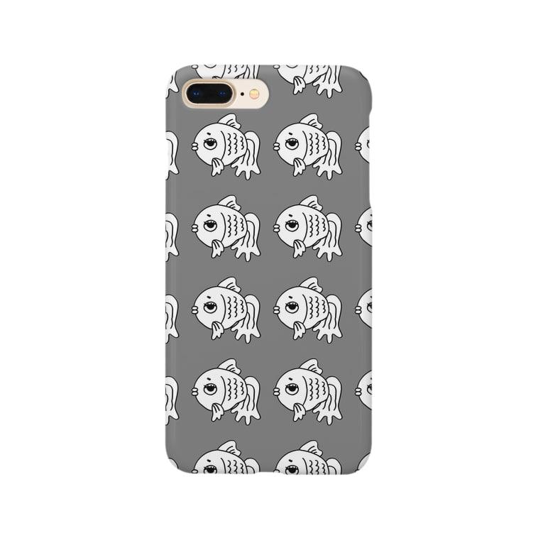 shop-rのshop-rちゃんアンニュイグレー Smartphone cases