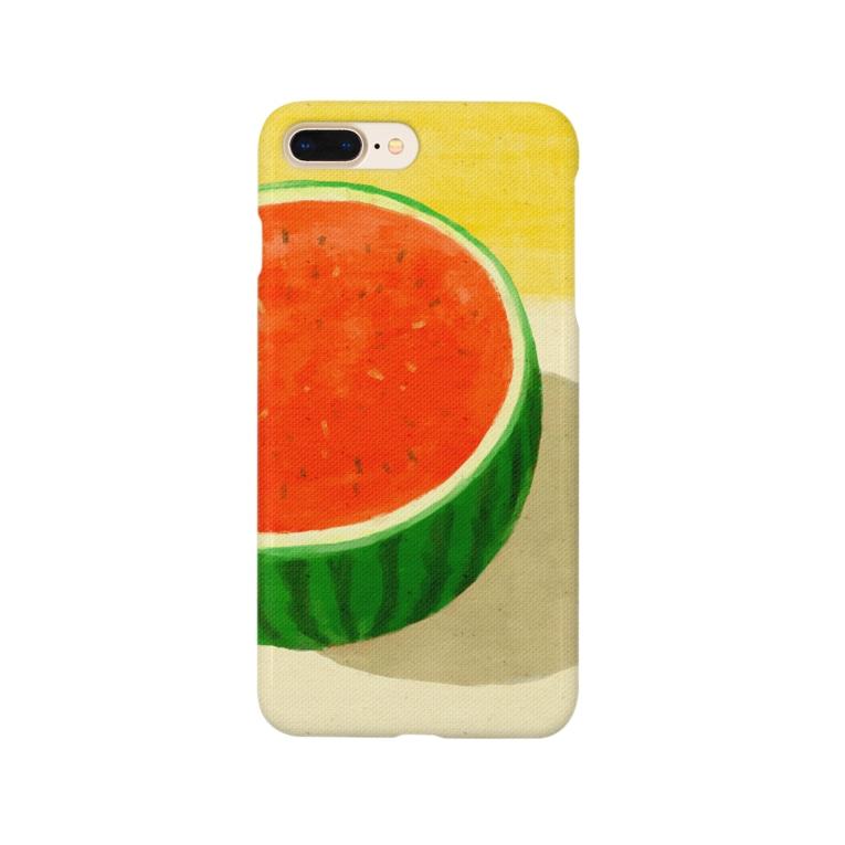 ソラクモストアの夏のスイカケース Smartphone cases