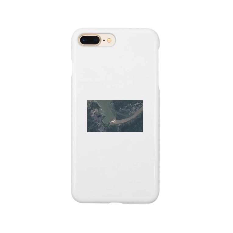 未来明察の三峡ダム放水の図 Smartphone cases