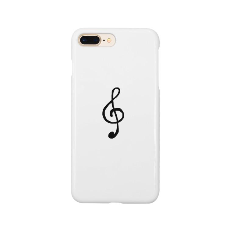 Komachingのおんぷ Smartphone cases
