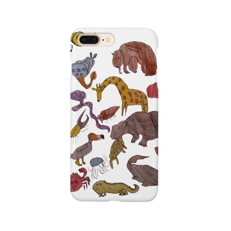 琥珀ぬこの絶滅動物と危惧種たち Smartphone Case