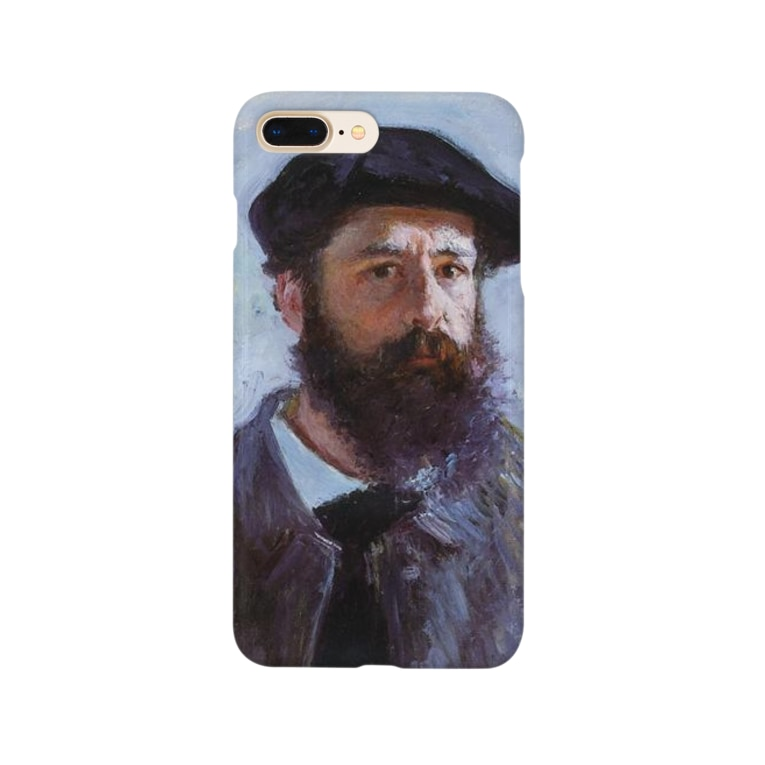 Art Baseのクロード・モネ / 1886 / Self-Portrait with a Beret / Claude Monet Smartphone cases
