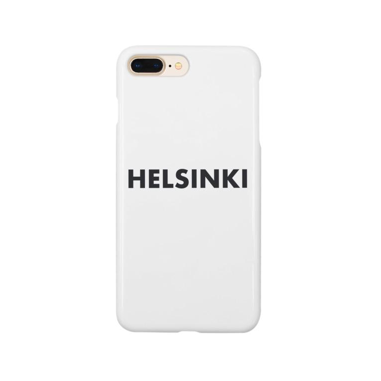 週末北欧部のど直球ヘルシンキ (黒) Smartphone cases