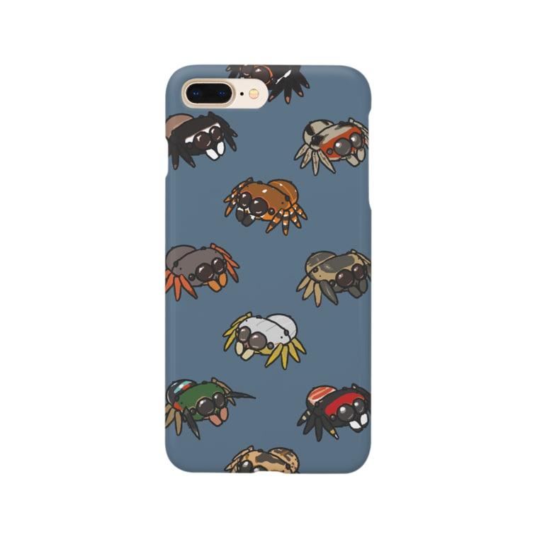 Caruno to Kulaのまんまるハエトリグモ Smartphone cases