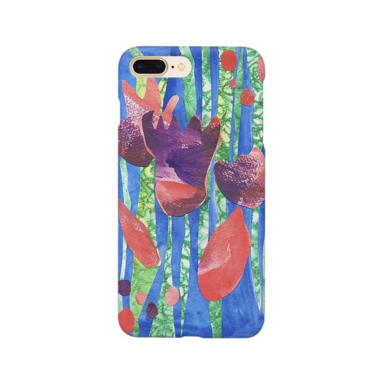 パッピー村のやさい畑のおはなのながれのコラージュ Smartphone cases