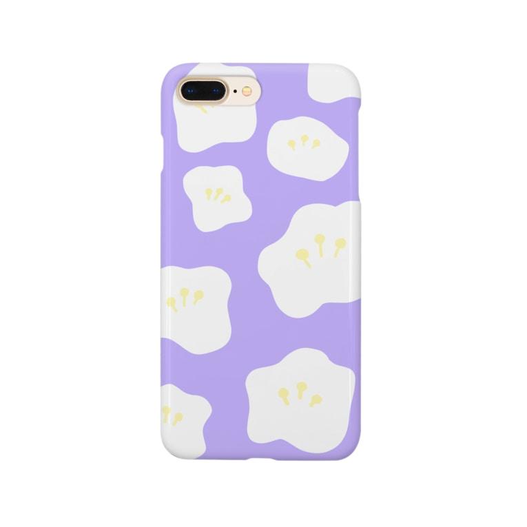mimi_midoのフラワー(パープル) Smartphone Case