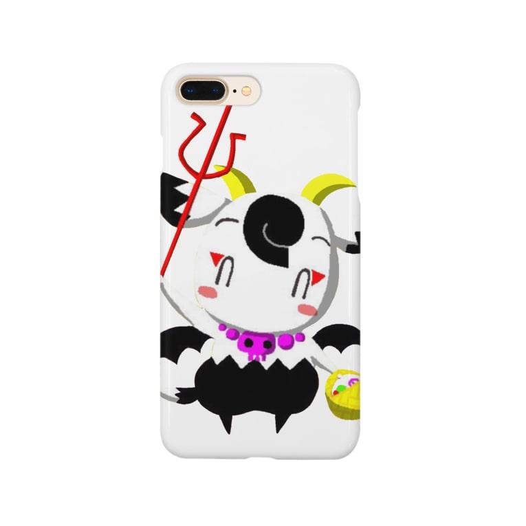 POISONCHARM電脳露店2号のハロウィンアオヤギさん Smartphone cases