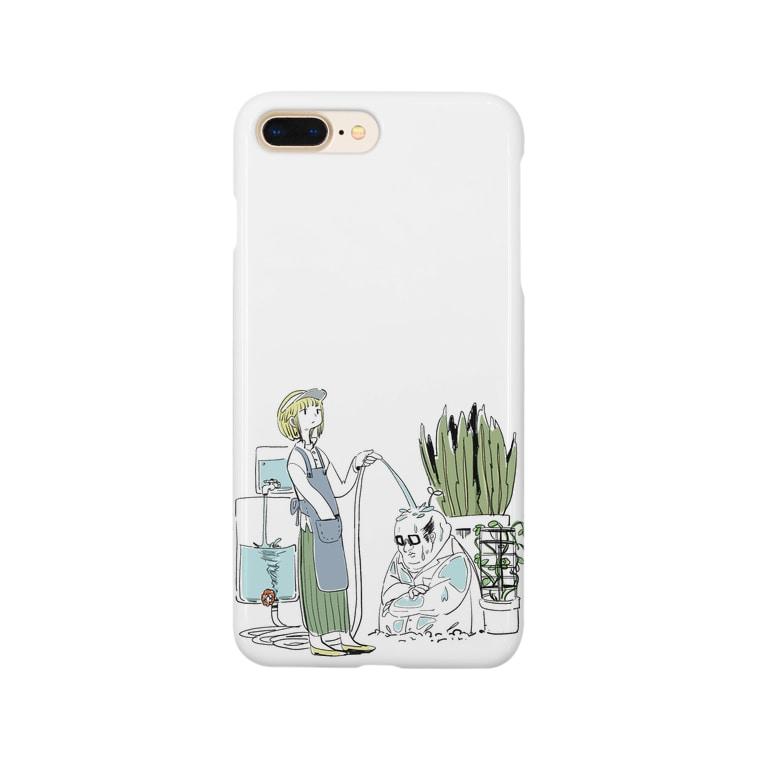 momohiki shopの「植物の成長」イラスト Smartphone cases