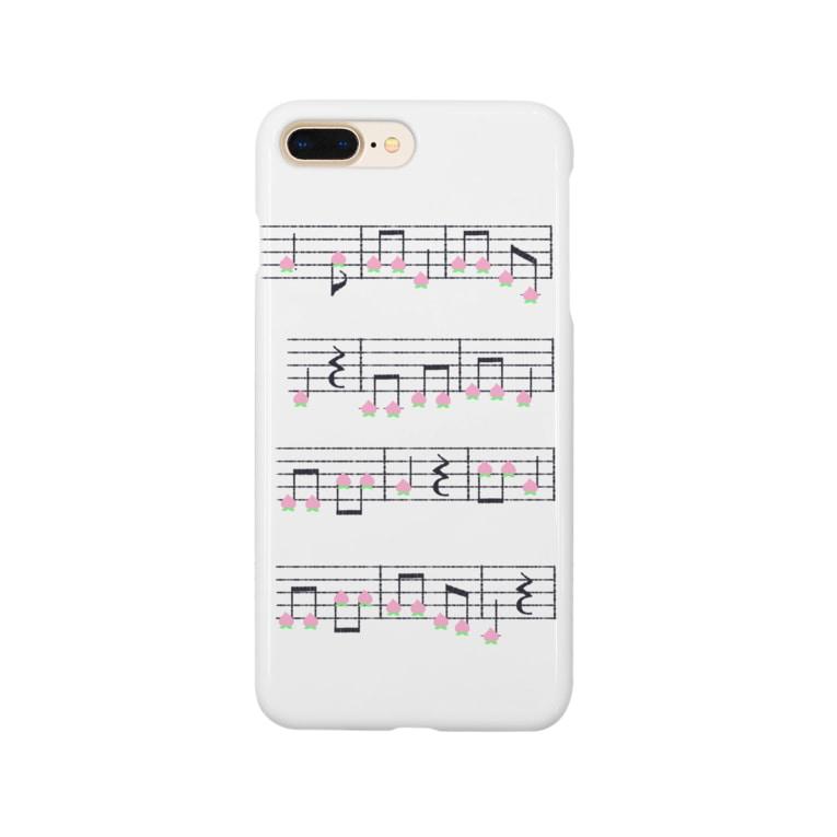TinyMiry(タイニーミリー)の桃の楽譜 Smartphone cases