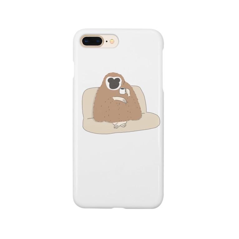 あだすのシロテテナガザル Smartphone cases