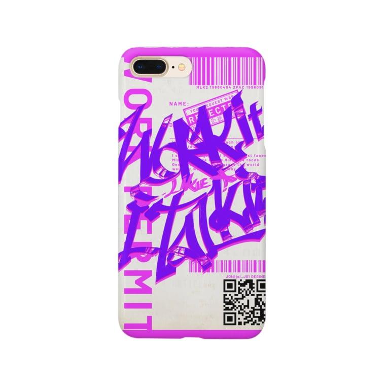 JoiのWork it like a I talk itのむらさき Smartphone cases