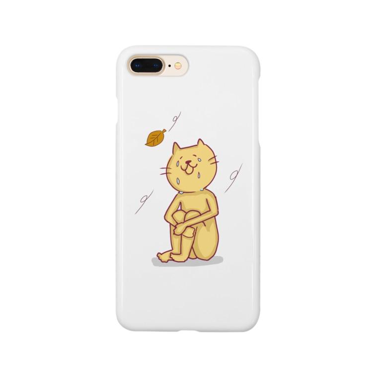ななもちゃんの動物のシクシクネコネコ 猫次郎くん Smartphone cases