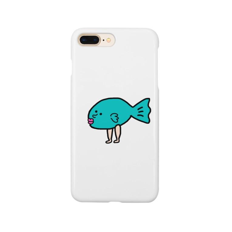 はらぺこぺごぱの気まぐれフィッシュソロ Smartphone cases