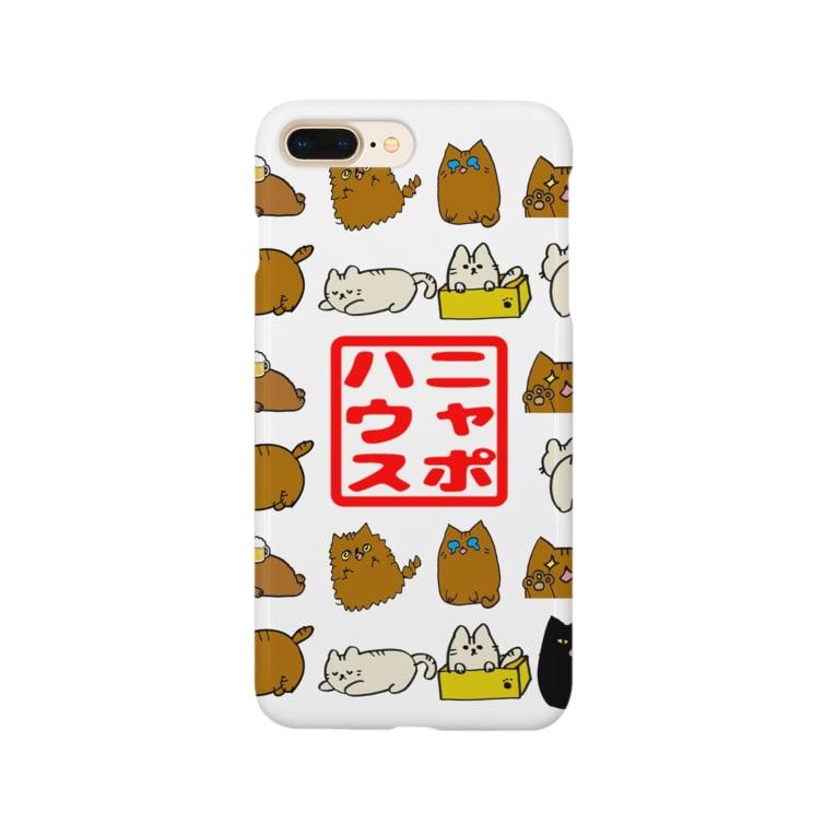 ニャポハウスショップ のニャポキャラオールスターズ Smartphone cases