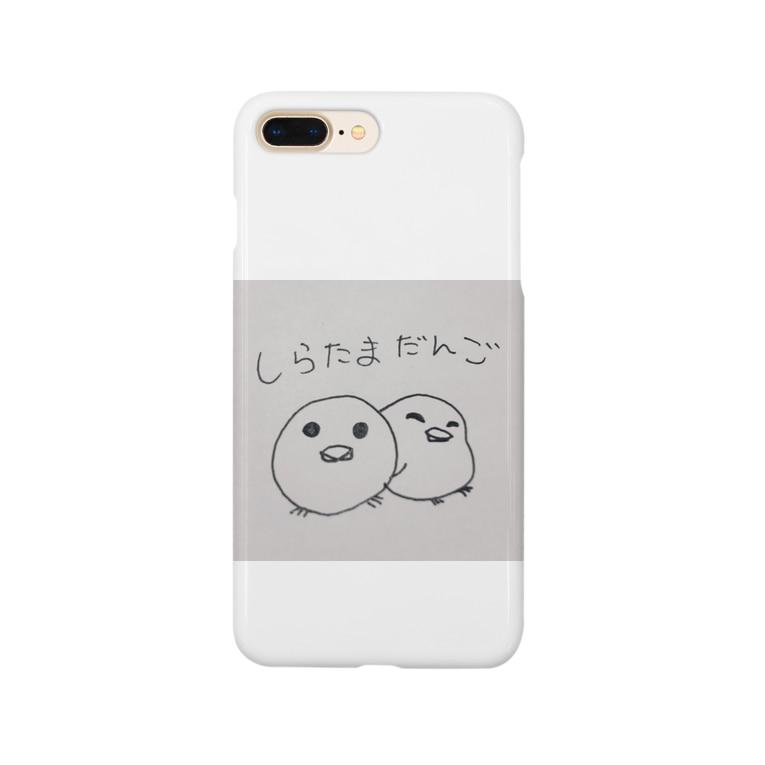 縹のしらたまだんご十姉妹 Smartphone cases