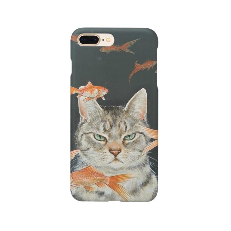 おちょぴの金魚と猫 Smartphone Case