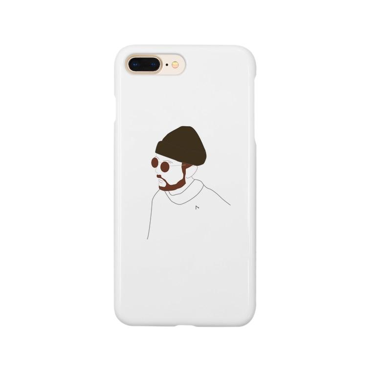 Hiroko💐のビーニーのイケてる兄さん Smartphone Case