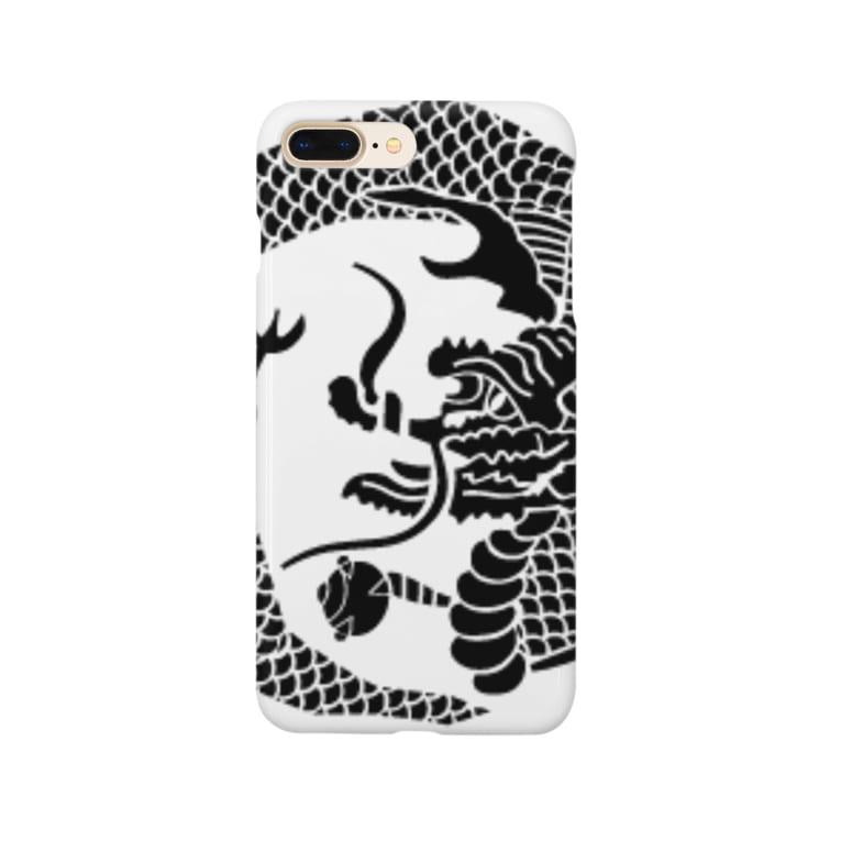 鯔背屋の竜家紋 Smartphone cases