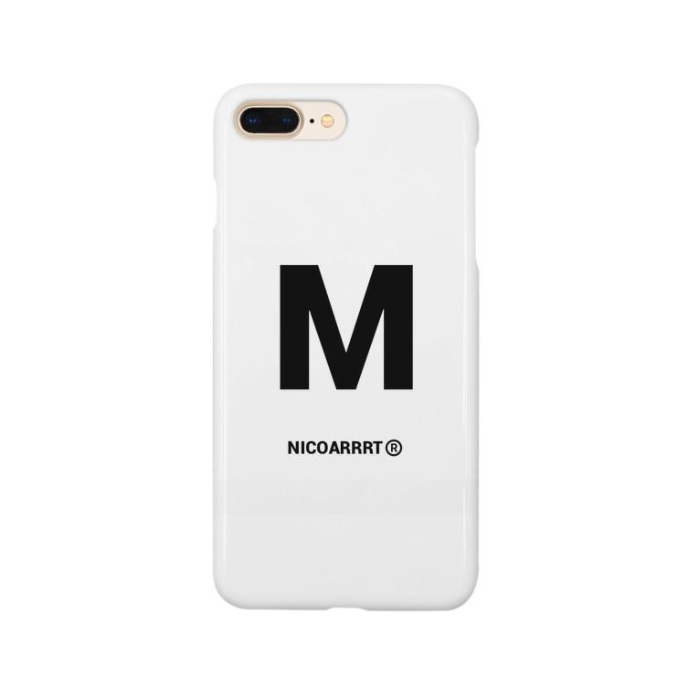 NICOARRRTのイニシャルグッズ Smartphone cases