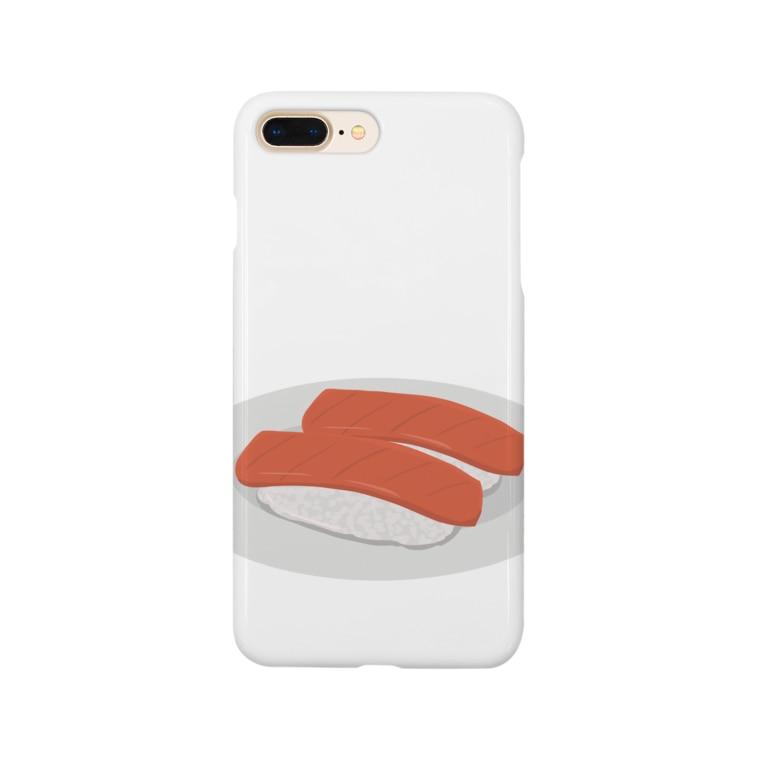 chicodeza by suzuriのマグロの赤み Smartphone cases