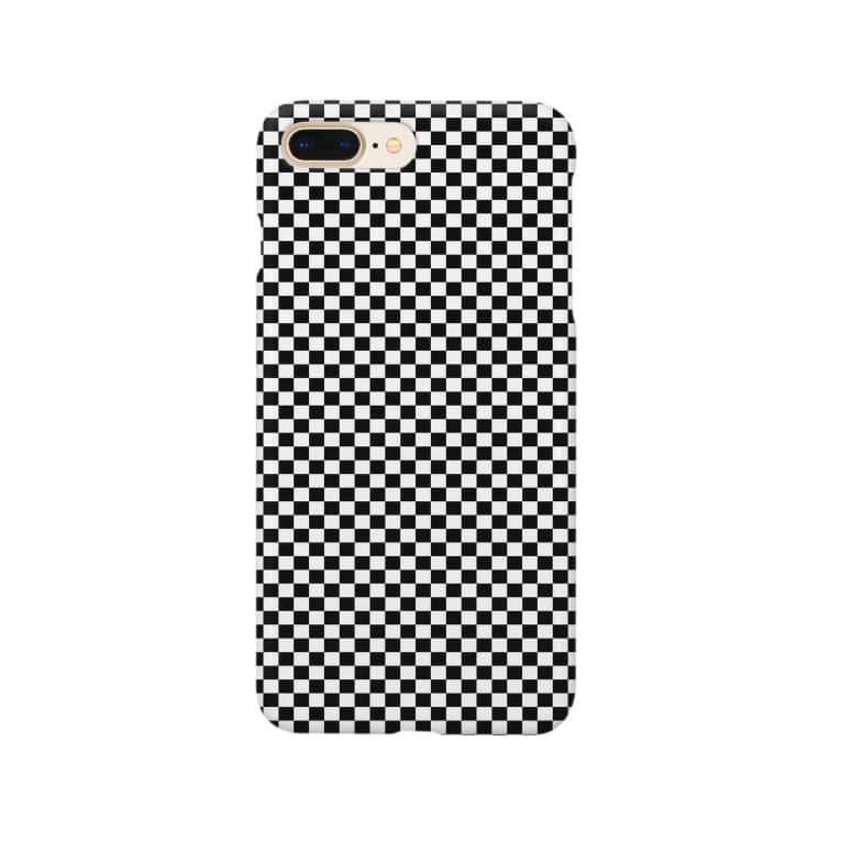 TSUTSUTSUのチェッカーフラッグ Smartphone cases
